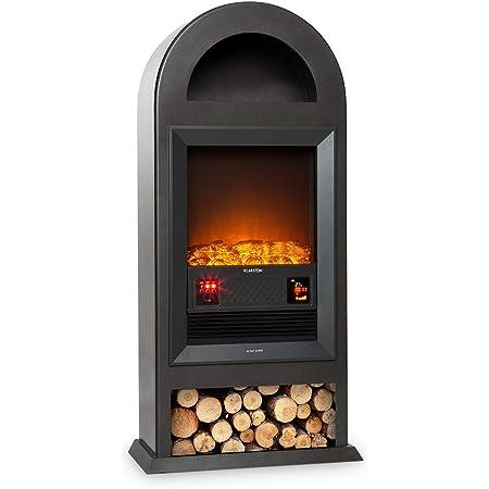 Klarstein Blockhouse Electric Fireplace Fireplace Electric Fireplace Smoke Free Flame Effect With Decorative Wood 4 Switches Free Standing Switchable Heating Output 1000 2000 W Matt Black Amazon De Baumarkt