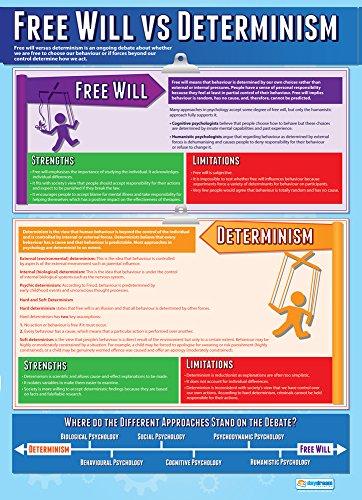Pósteres de psicología | Libre albedrío vs determinismo | Papel laminado brillante...
