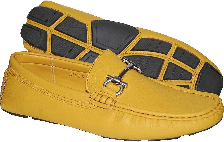 KRAZY SHOE ARTISTS Stylish Mustard color Men's Loafer,