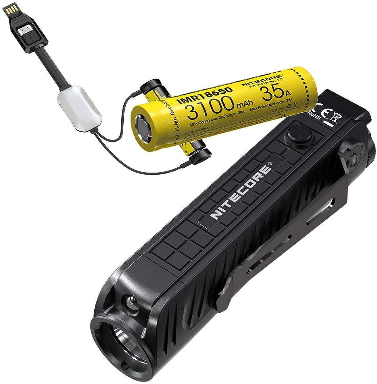 Nitecore P18 Unibody Diecast Futuristic Tactical Flashlight  1800 Lumen w  1x IMR battery & Portable LC10 Charger