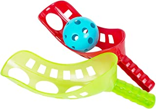 funwill Fun-Air Scoop Ball Launch Catch Game Catchers Scoop Toss Toy for Kids Family - 2 Scoops, 1 Ball (Random Color)