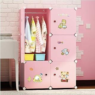 CAIJINJIN Hangers Blanchisserie Closet Cartoon Armoire portable for animaux mignons Chambre d'enfant conçu des vêtements A...