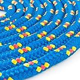 100m POLYPROPYLENSEIL 10mm BLAU Polypropylen Seil Tauwerk PP Flechtleine Textilseil Reepschnur Leine Schnur Festmacher Rope Kunststoffseil Polyseil geflochten