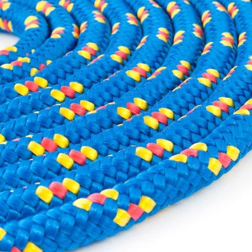 100m POLYPROPYLENSEIL 2mm BLAU Polypropylen Seil Tauwerk PP Flechtleine Textilseil Reepschnur Leine Schnur Festmacher Rope Kunststoffseil Polyseil geflochten