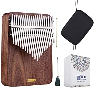 LingTing LT-K21W 21 keys Kalimba Mbira Thumb Piano(rain whisperer)Gift for Kids Adult Beginners Professional