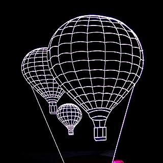 Lampe de Table Lampe de Table montgolfière LED dégradé coloré 3D Lampe de Table en Trois Dimensions Tactile télécommande U...