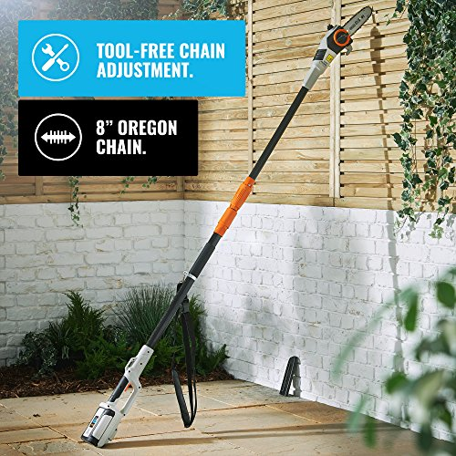"VonHaus 40V Max Cordless 20' Pole Hedge Trimmer with 83.8"" to 107.5""..."