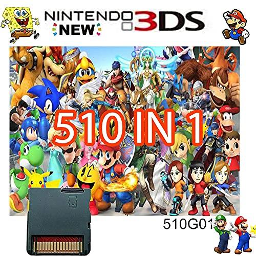 510 in 1 Game CartridgeNintendo DS Games CardCompatible with Super ComboNDSLNDSiNDSi LL/XL3DS3DSLL/XLNew 3DSNew 3DS LL/XL2DSNew 2DS LL/XL