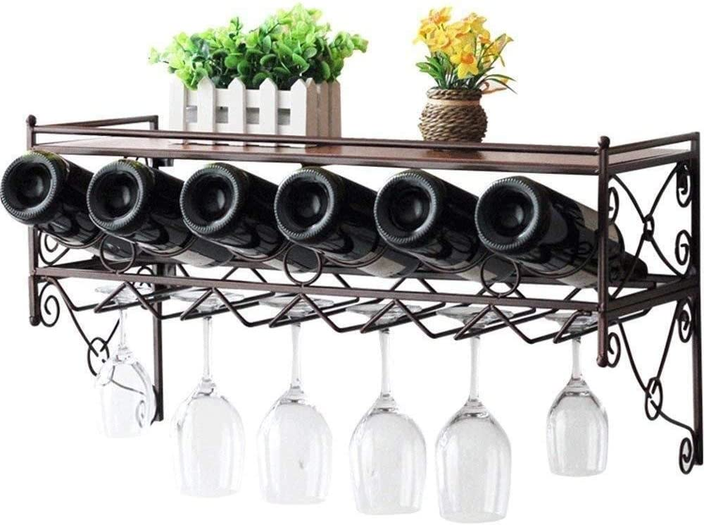 RSWLY Wine Rack Wall Mounted Han Glass Iron Metal Superior Chicago Mall