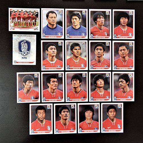 Panini Copa Mundial de la FIFA 2010Sudáfrica completo equipo Corea del Sur + Lámina Badge