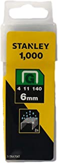 Stanley Heavy-Duty Staple, 6mm, Yellow, Pack of 1000 Pieces, TRA704T