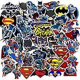 95 Stück Fledermaus Superman Kühles Wasserdichtes Vinyl Aufkleber Packung Junge Mädchen Graffiti Sticker Aufklebern Laptop Anime Aufkleber für Autos Wasserbecher Koffer Snowboards IPhone