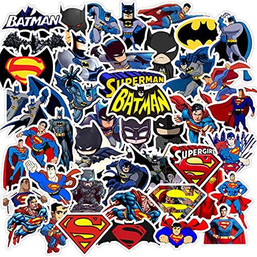 95 Pièces Batman Superman Vinyle Sticker Imperméable Autocollants à La Mode Cool Uniques Graffiti Autocollants Pack Cartoon Vsco Stickers pour Enfants Ordinateur Planches à Roulettes Bagages