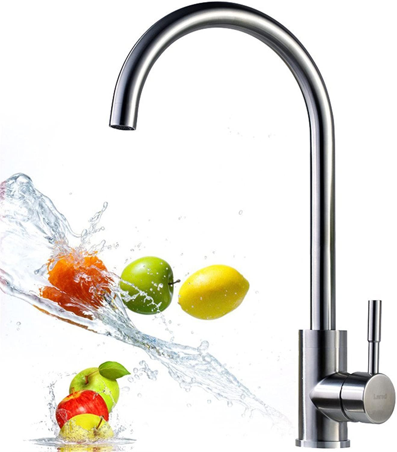 Decorry 304 Stainless Steel Lead-Free Kitchen Sink Hot and Cold Wash Vegetable Pot Faucet Ceramic Spool