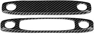 Tisany Reading Light Cover - 2Pcs/Set Carbon Fiber Pattern Roof Reading Light Trim Cover