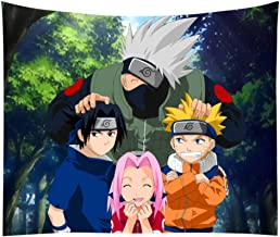 JHJUH Tapestry Naruto Kakashi Anime Background Cloth Wall Mounted Tapestry Psychedelic Tapestry 59 Inches X 79 Inches