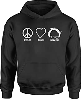 Expression Tees Peace Love Bernie Sanders for President Youth-Sized Hoodie