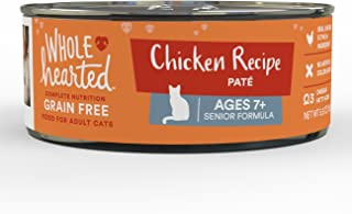 WholeHearted Grain Free Chicken Recipe Pate Senior Wet Cat Food, 5.5 oz, Case of 24, 24 X 5.5 OZ