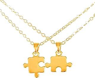 Collar de Rompecabezas - Chapa Oro 22k - Elegantia Jewelry