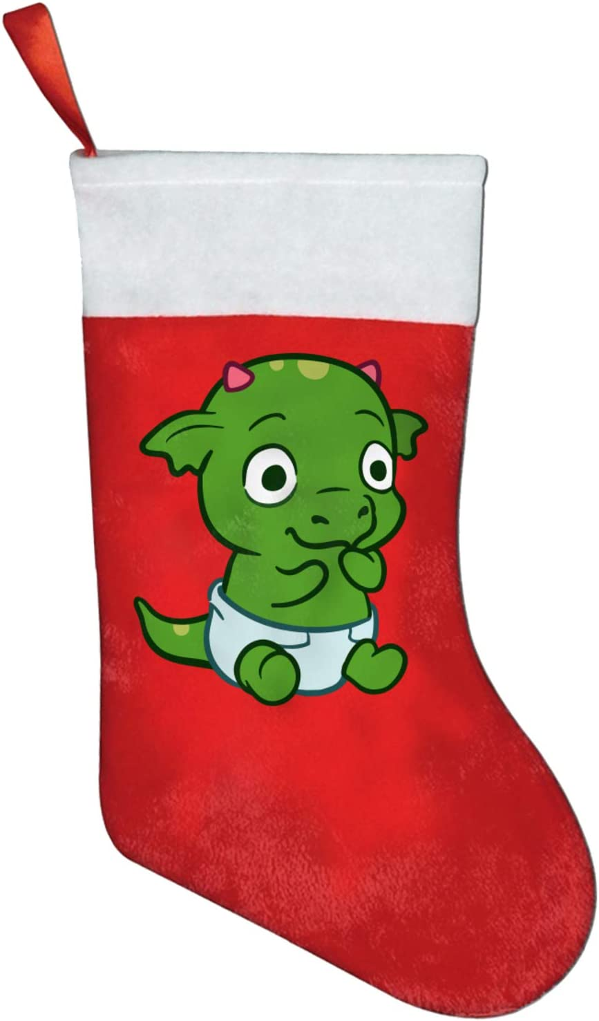 NRDXQ Green Baby Dragon online shop Christmas Size Xmas Limited time sale Big Stockin Stocking