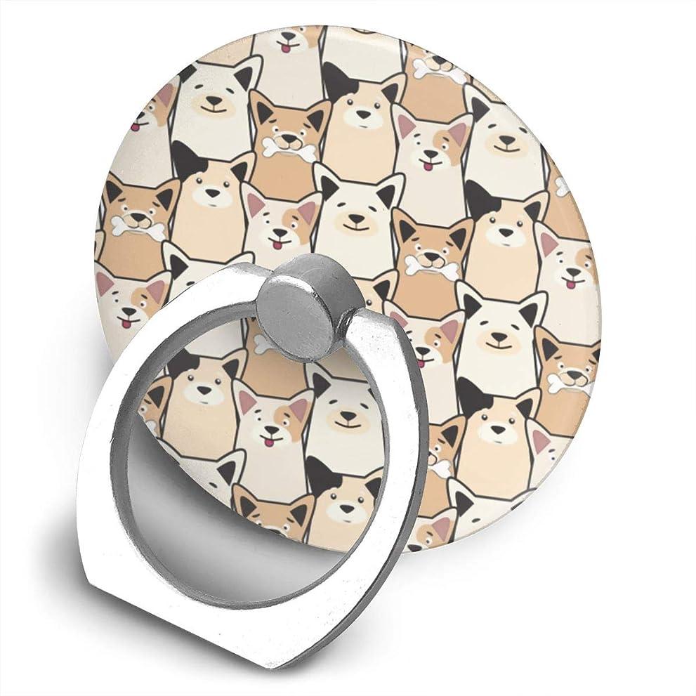 任命説明する従順な漫画の犬 360度回転 携帯リング スタンド スマホスタンド ホルダー 薄型 指輪 リング 携帯アクセサリースタンド機能 落下防止