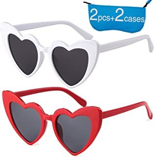 e9c2b6742c305 Retro Vintage Clout Goggle Heart Sunglasses Cat Eye Mod Style for Women Kurt  Cobain Glasses Plastic