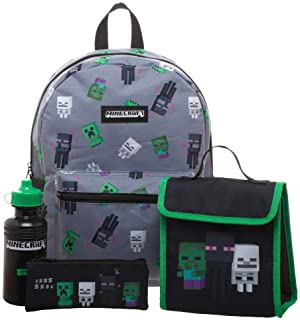 Minecraft Pojkar/Flickor Ryggsäck 4-styckig Grå