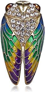 ANLIS Acrylique Insectes Boucles doreilles Pendantes Femmes Belle Cigale Ailes De Paillettes Dangle Boucles doreilles