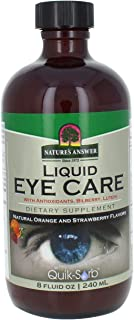Nature's Answer Liquid Eye Care Supplement-Vitamins, 8-Fluid Ounces | Supports Healthy Eyes