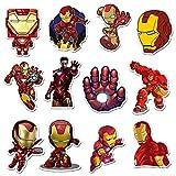 CHUDU Pegatinas Mixtas irrepetibles, Pegatinas de Personajes de héroe, Pegatinas de Graffiti de Iron Man, monopatín Impermeable 35 Hojas
