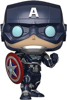 Funko Pop! Marvel: Juego de los Vengadores - Capitán América (Stark Tech Suit)