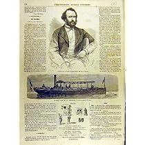 1863 の Portrat のサクソフォーンの Le プエブラのヨットの皇后のフランス人の印刷物
