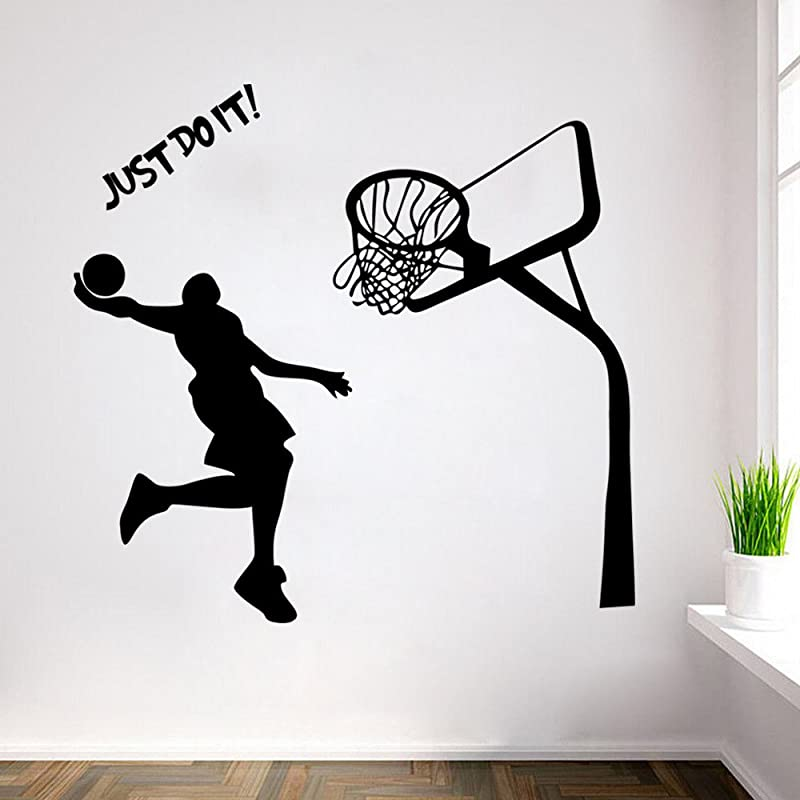ChezMax DIY Removable Wall Decor Waterproof Shooeting At The Basket Wall Sticker 16 9 X 28 3