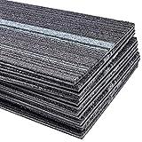 tonchean 12 Pcs Commercial Strip Carpet Tiles Heavy Duty Washable Carpet...