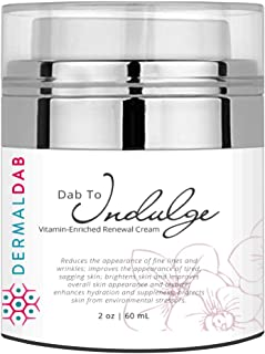 The Best Anti Aging Cream on Amazon! With Vitamins A, B, C, D, E & K, Antioxidants & Collagen! Brighten Complexion, Remove Wrinkles & Reverse Sun Damage! Dab to Indulge (1oz)