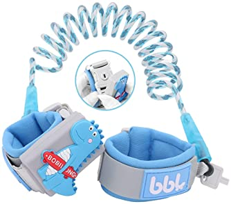 Anti Lost Wrist Link - Toddler Wrist Leash for Kids Child Safety Wristband Reflective Upgraded 2019 Version with Lock...