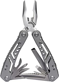 Multitool Pliers, Auper 14 in 1 Portable Pocket Multifunctional Multi Tool, Sturdy 2cr13 Stainless Steel Hand Tool for Mountaineering, Fishing, Traveling, DIY Activities and Survival