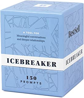 Conversation Starter Icebreaker Deck by BestSelf — Powerful Tool to Establish and Strengthen Relationships by Cultivating Open, Engaging and Meaningful Interactions — 150 Engaging Conversation Prompts