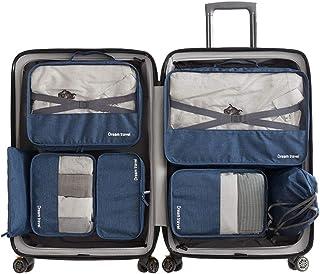 クロース(Kroeus)トラベルポーチ7点セット 旅行用品 アレンジケース 撥水仕上げ 軽量 靴袋 収納ポーチ 衣類 出張用