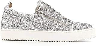 Luxury Fashion | Giuseppe Zanotti Design Men RM90000007 Silver Leather Sneakers | Spring-summer 20