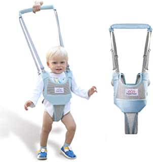 Baby Walker, PoplarTrees Baby Walking Harness, Adjustable Toddler Walking Helper with Detachable Crotch for 7-24 Months Kids, Breathable Toddler Walking Learning Assistant Child Activity Walker(Blue)