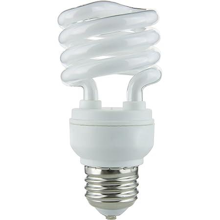 2700K TCP 48913Y CFL T3 Spiral Bug Light Bulb E26 Base - 120V 925 Lumens 13W