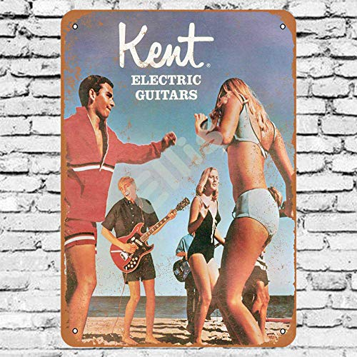 1967 Kent Guitarras eléctricas Vintage Retro Metal Estaño