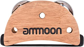 ammoon Caja Elíptica Cajon Accesorio Drum Companion Tamboril de Jingle de Pie para Instrumentos de Percusión Manual