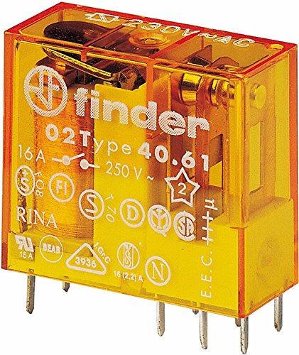 Finder Steck/Printrelais 230 V AC, 1 W, 16 A, 1 Stück, 40.61.8.230.0000 (2 Stück Steck-/Printrelais)
