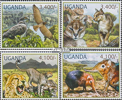 Prophila Collection Uganda 2800-2803 (Completa Edizione) 2012 Rare Animali (Francobolli per i Collezionisti) Uccelli