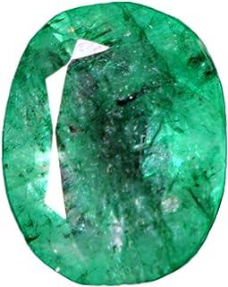 GEMHUB Esmeralda verde natural de 3,85 quilates ovalada de corte brillante certificada, piedra preciosa suelta facetada pa...
