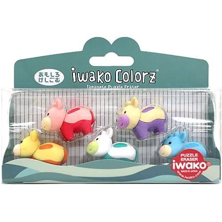 6Pcs Japanese Iwako Erasers-Cows