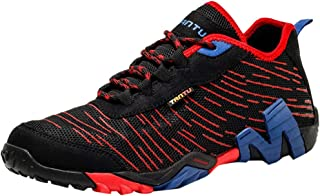 iYBUIA Men's Summer Breathable Mesh Hiking Single Shoes Lightweight Wear Resistant Casual Running Sneakers 7-10.5