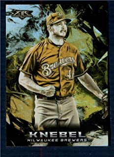 2018 Topps Fire Baseball Gold Minted #24 Corey Knebel Milwaukee Brewers Target Exclusive Official MLB Trading Card